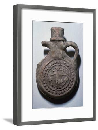 Pilgrim flask for the shrine of St Menas, 6th century-Unknown-Framed Giclee Print