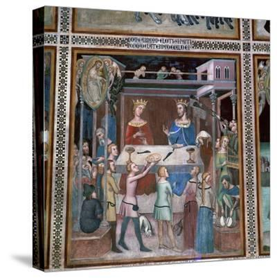 Fresco of the story of Job, 14th century-Unknown-Stretched Canvas Print