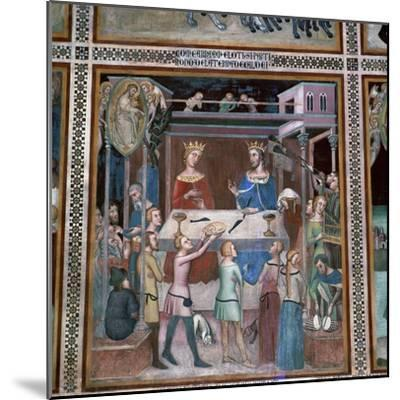 Fresco of the story of Job, 14th century-Unknown-Mounted Giclee Print