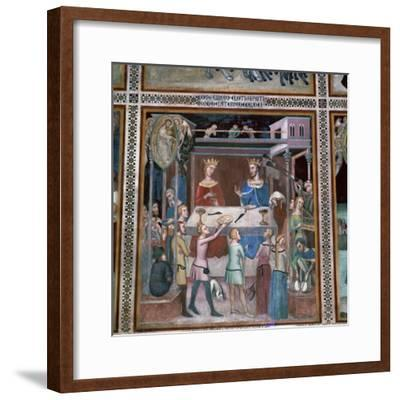 Fresco of the story of Job, 14th century-Unknown-Framed Giclee Print
