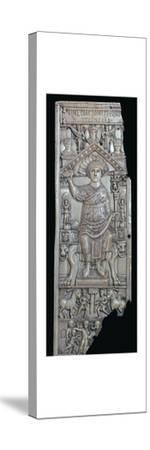 Ivory leaf of a consular diptych of Flavius Anastasius, 6th century-Unknown-Stretched Canvas Print