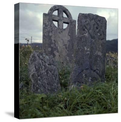Early Christian cross-slab, 7th century-Unknown-Stretched Canvas Print