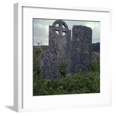 Early Christian cross-slab, 7th century-Unknown-Framed Photographic Print