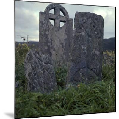 Early Christian cross-slab, 7th century-Unknown-Mounted Photographic Print