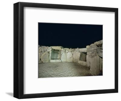 Interior of a passage grave, 26th century BC-Unknown-Framed Photographic Print