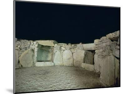 Interior of a passage grave, 26th century BC-Unknown-Mounted Photographic Print