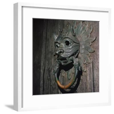 Sanctuary Knocker from Durham Cathedral, 12th century-Unknown-Framed Giclee Print