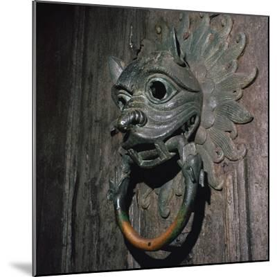 Sanctuary Knocker from Durham Cathedral, 12th century-Unknown-Mounted Giclee Print