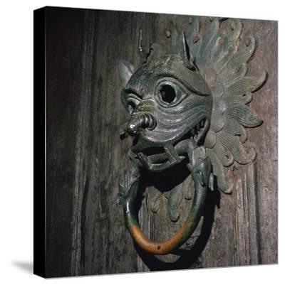 Sanctuary Knocker from Durham Cathedral, 12th century-Unknown-Stretched Canvas Print