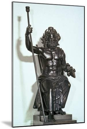 Roman bronze of Jupiter-Unknown-Mounted Giclee Print