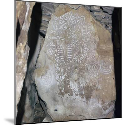 Decorated Celtic slab, 32nd century BC-Unknown-Mounted Giclee Print