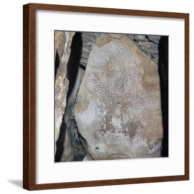 Decorated Celtic slab, 32nd century BC-Unknown-Framed Giclee Print