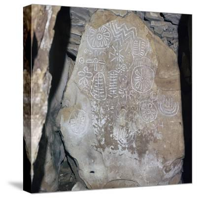 Decorated Celtic slab, 32nd century BC-Unknown-Stretched Canvas Print
