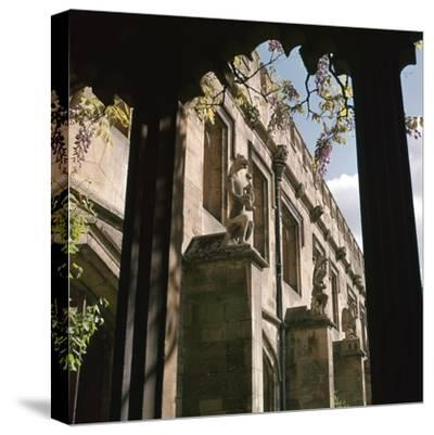 The Quadrangle of Magdalen College, 15th century-Unknown-Stretched Canvas Print