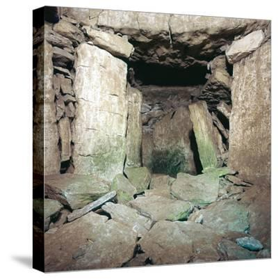 Interior of Neolithic burial chamber, 26th century BC-Unknown-Stretched Canvas Print