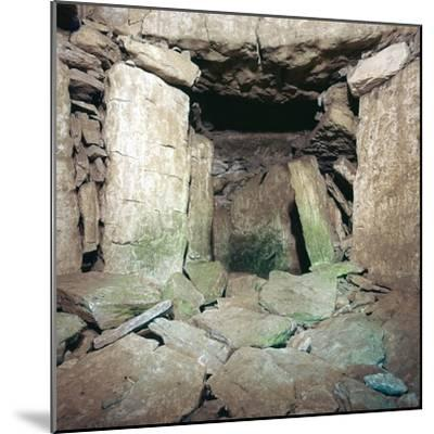 Interior of Neolithic burial chamber, 26th century BC-Unknown-Mounted Photographic Print