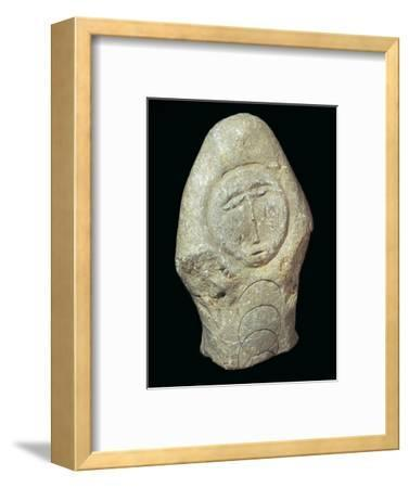 Carved Celtic Head, 1st century-Unknown-Framed Giclee Print
