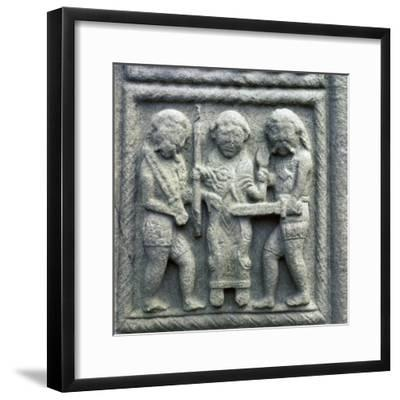 Image from the Cross of Muiredach, 10th century-Unknown-Framed Giclee Print