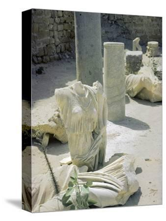 Remains of the Roman town of Caesarea, 1st century-Unknown-Stretched Canvas Print