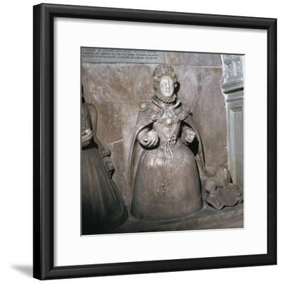 Alabaster statue of Queen Elizabeth I, 16th century-Unknown-Framed Giclee Print