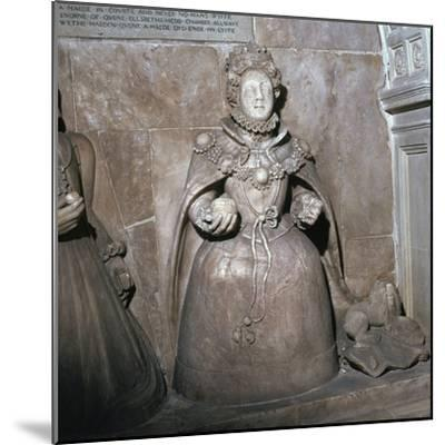 Alabaster statue of Queen Elizabeth I, 16th century-Unknown-Mounted Giclee Print