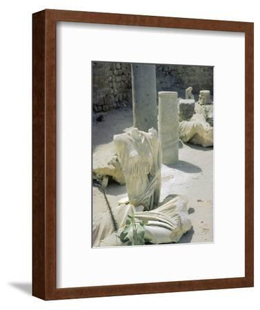 Remains of the Roman town of Caesarea, 1st century-Unknown-Framed Photographic Print