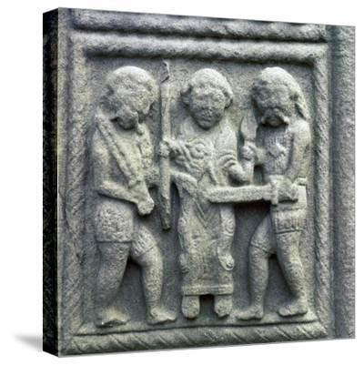 Image from the Cross of Muiredach, 10th century-Unknown-Stretched Canvas Print