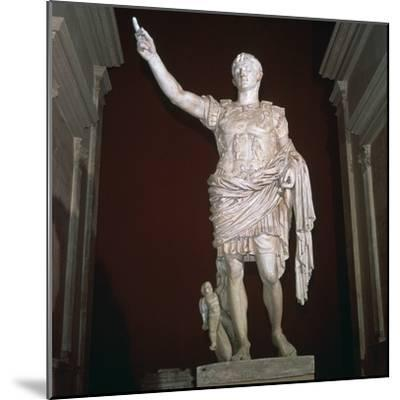 Statue of the Roman Emperor Augustus, 1st century BC-Unknown-Mounted Giclee Print