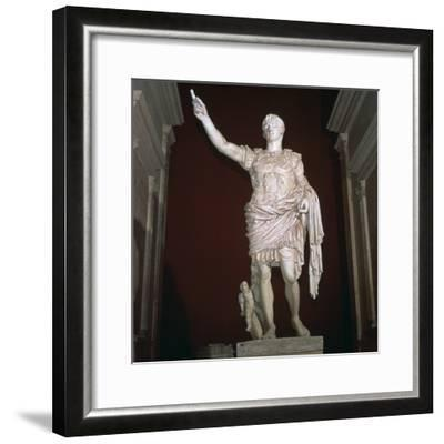 Statue of the Roman Emperor Augustus, 1st century BC-Unknown-Framed Giclee Print