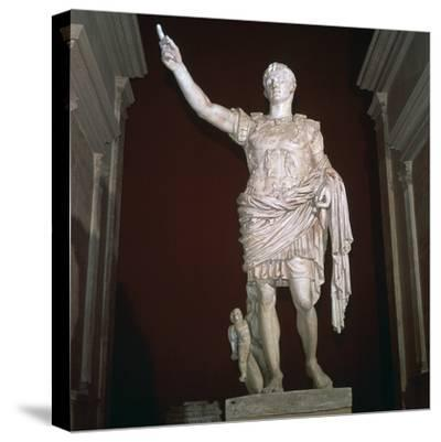 Statue of the Roman Emperor Augustus, 1st century BC-Unknown-Stretched Canvas Print