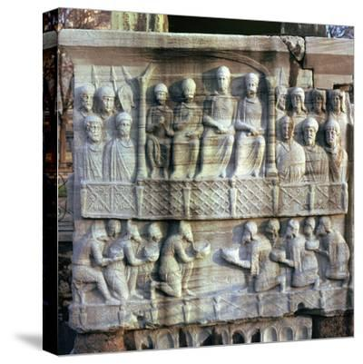 Base of an obelisk in Istanbul, 4th century-Unknown-Stretched Canvas Print
