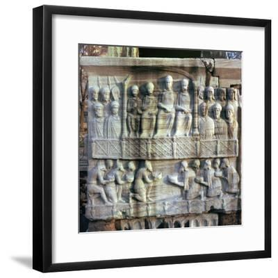 Base of an obelisk in Istanbul, 4th century-Unknown-Framed Giclee Print