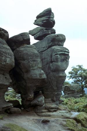 Brimham Rocks-Unknown-Framed Photographic Print