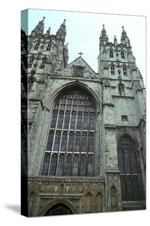 Canterbury Cathedral from the west, 6th century-Unknown-Stretched Canvas Print