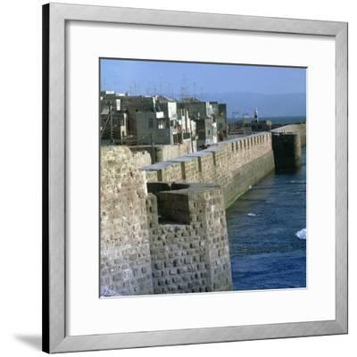 Harbour of Acre-Unknown-Framed Photographic Print