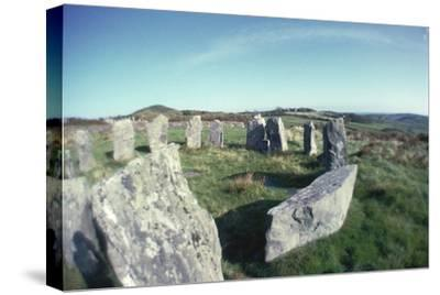 Drombeg stone circle-Unknown-Stretched Canvas Print
