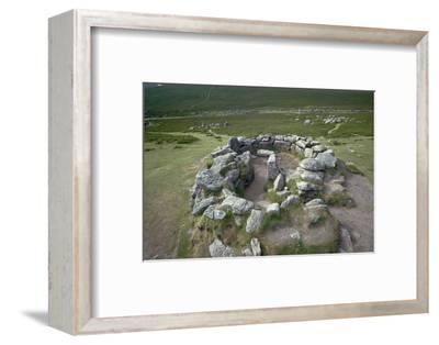 Hut Circles on Dartmoor, 21st century BC-Unknown-Framed Photographic Print