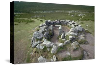 Hut Circles on Dartmoor, 21st century BC-Unknown-Stretched Canvas Print