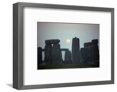 Stonehenge at sunrise, 25th century BC-Unknown-Framed Photographic Print