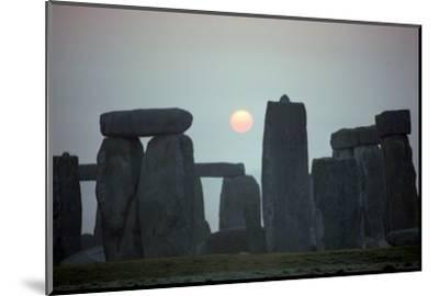 Stonehenge at sunrise, 25th century BC-Unknown-Mounted Photographic Print