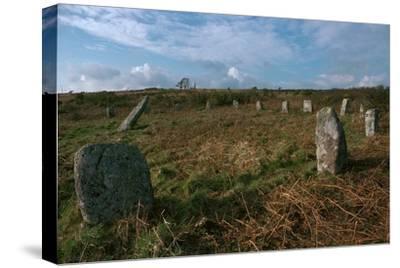 Boscawen-Un Stone Circle-Unknown-Stretched Canvas Print