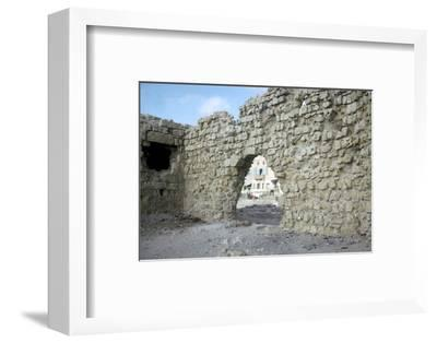 Arch in the seawall of Acre-Unknown-Framed Photographic Print