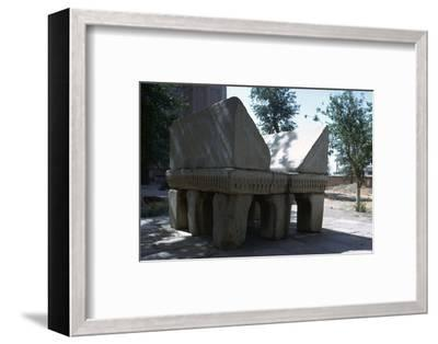 Stone lectern, 14th century-Unknown-Framed Photographic Print