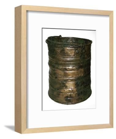 Celtic bronze vessel, 6th century BC-Unknown-Framed Giclee Print