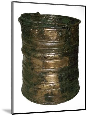 Celtic bronze vessel, 6th century BC-Unknown-Mounted Giclee Print