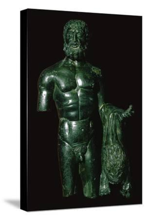 Roman bronze of Hercules-Unknown-Stretched Canvas Print