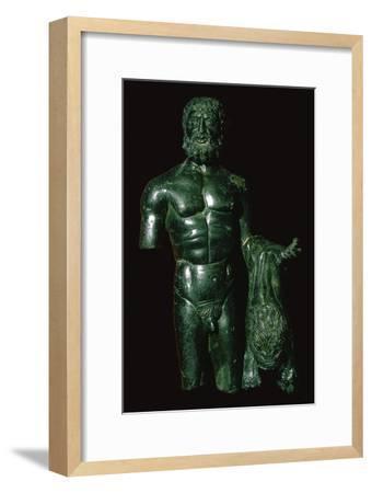 Roman bronze of Hercules-Unknown-Framed Giclee Print