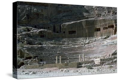Nabatean Theatre, 1st century-Unknown-Stretched Canvas Print