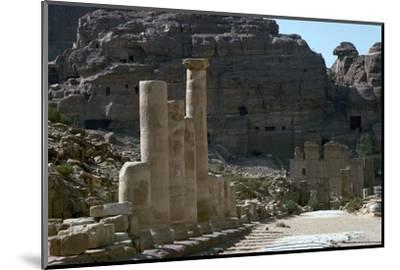 Colonnaded street in the centre of Petra-Unknown-Mounted Photographic Print