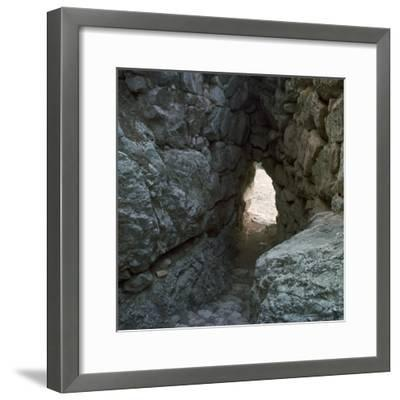 The 'Secret Stairway' to the postern gate of Tiryns, 15th century BC-Unknown-Framed Photographic Print